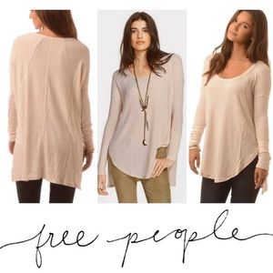 FREE PEOPLE Ventura Thermal Top Gray Size SP